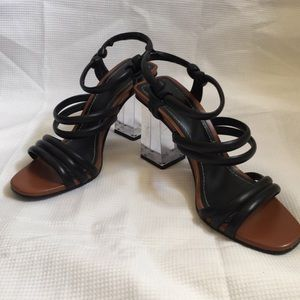 Zara Acrylic Heeled Sandals